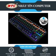 Bàn Phím Cơ Game Thủ NTC K28 87K – Đèn Led 10 Chế Độ (Đen) + Tặng kèm đế kê tay nhựa