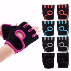 Găng tay tập gym nam nữ nửa ngón mút xốp 5 màu