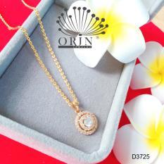 Dây chuyền mặt tròn viền 2 đính đá thời trang cao cấp Orin D3725
