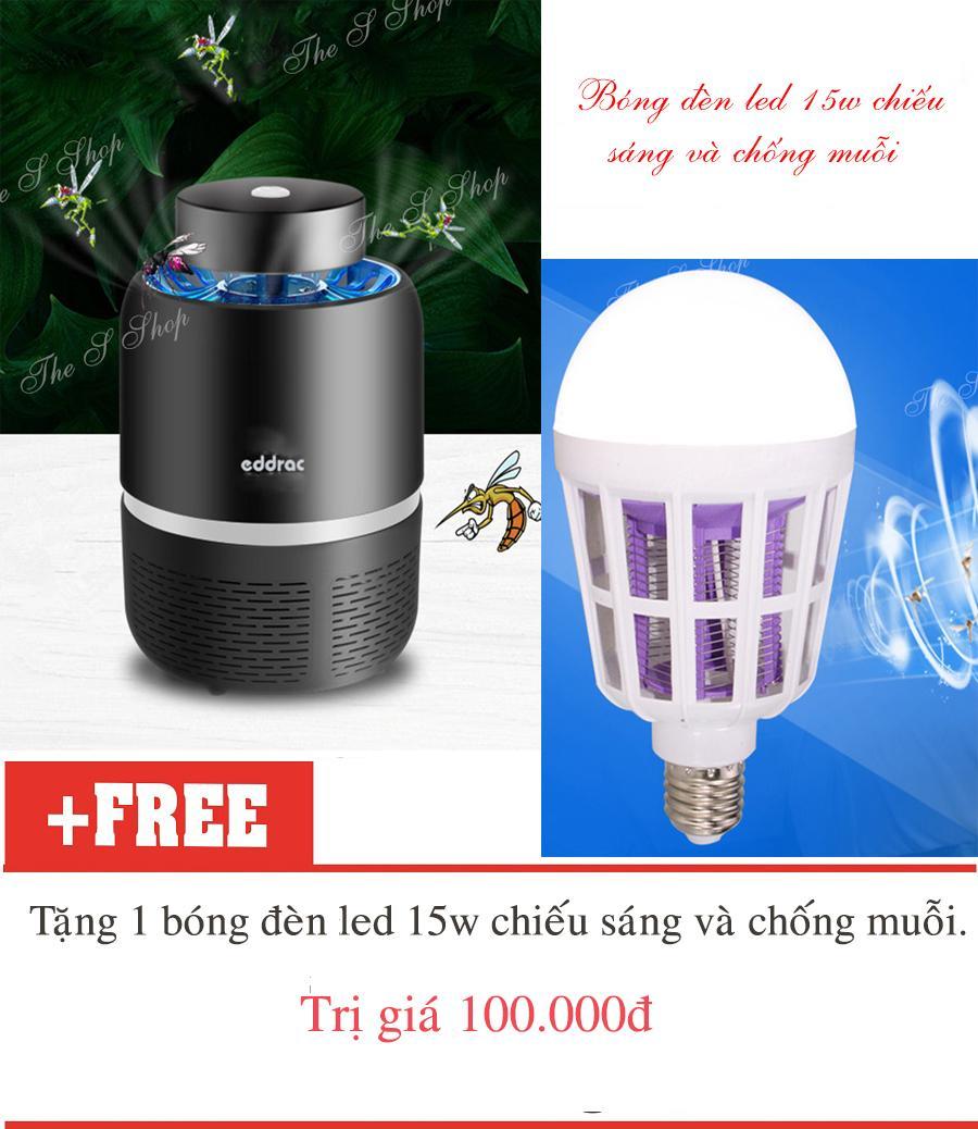 Máy bắt muỗi và diệt côn trùng UV Eddrac (Hàng chất lượng cao KHÔNG Giá Rẻ) + tặng bóng đèn bắt muỗi