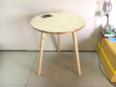 BCF – Bàn tròn gỗ cao su 60×72, bàn cafe, bàn coffee, bàn cà phê, bàn ăn, bàn làm việc