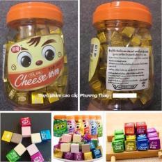 Combo 2 – Kẹo phô mai vị cacao Cheese Cube 450g – 160v (Thailand)