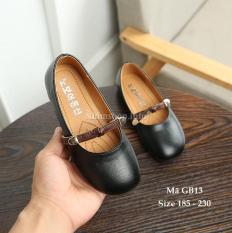 Giày Búp Bê Màu Đen Cho Bé Gái 3 – 12 Tuổi Kiểu Hàn Quốc GB13