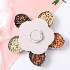 [HÀNG HOT TẾT 2019] Khay mứt đựng bánh kẹo ngày tết xoay tự động nở 5 cánh hoa cao cấp