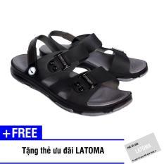 Giày nam chất liệu Cao su thời trang Latoma cao cấp TA1921 (Đen)+ Tặng kèm thẻ ưu đãi Latoma