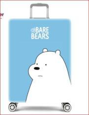 Túi bọc bảo vệ vali We Bare Bears ( màu xanh da trời, sz S 18 -20 inch )