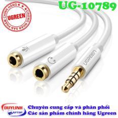 Cáp chuyển Audio 3.5mm sang 1 đầu Audio 3,5mm, 1 đầu Microphone Ugreen 10789