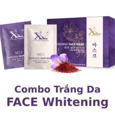 Bộ đôi dưỡng trắng da mặt XSKIN Whitening Face Mask gồm Saffron và Kem ủ trắng