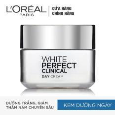 Kem dưỡng trắng mịn và giảm thâm nám ban ngày L'Oreal Paris White Perfect Clinical Day SPF 19PA +++ 50ml
