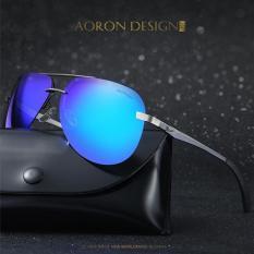 Mắt kính nam polarized phân cực chống chói, chống tia UV400 gọng kim loại bản lề lò xo, tặng kèm hộp và khăn lau – MK1804