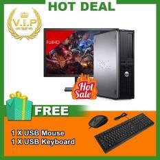 Combo Máy tính đồng bộ Dell Optiplex 760 DT + Màn hình Dell 19.5inch (Core 2 Quad Q8300, Ram 4GB, HDD 500GB) Chất Lượng Tốt + Quà Tặng – Hàng Nhập Khẩu