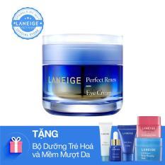Kem dưỡng ngăn ngừa lão hóa vùng mắt Laneige Perfect Renew Eye Cream 20ml + Tặng bộ làm sạch và ngăn ngừa lão hóa Laneige 4 món