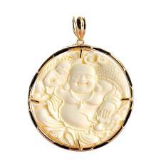 Mặt dây chuyền dạng ngọc bội Tượng Phật Di Lặc hoan hỉ MK137 Tặng 1 vòng 59k