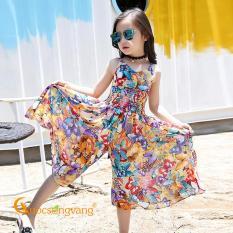Bộ đồ bé gái bộ quần áo bé gái in hoa GLSET037