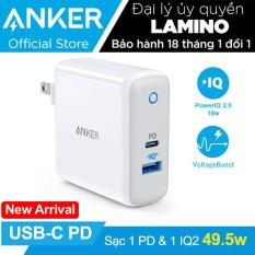 Sạc ANKER PowePort II PD 49.5w (1 USB-C PD và 1 Power IQ 2.0) – A2321