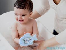 Nhiệt kế đo nhiệt độ nước tắm, phòng tắm cho bé hình chú cá