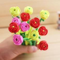 Combo 10 bút hoa dẻo, có hương thơm dễ thương, tặng 1 bút kute ngẫu nhiên