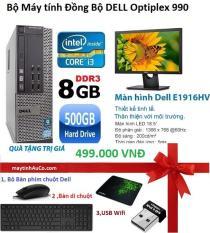 Bộ Máy Tính Đồng Bộ Dell Opiplex 990 (core I3 /8G/500G) Và Màn Hình Dell 18.5inch (Đen), Tặng bàn phím chuột Dell ( FPT ), USB Wifi ,Bàn di chuột , Bảo hành 24 tháng