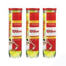 3 lon bóng tennis wilson đỏ 4