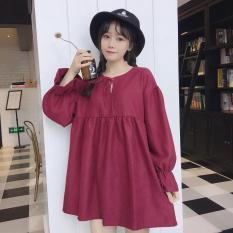 Đầm baby doll dài tay siêu xinh phong cách ulzzang Hàn Quốc mới nhất 2018