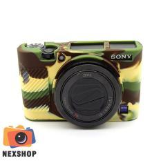 Bao Silicon máy ảnh dùng cho Sony Rx100M3 – Rx100M4 – Rx100M5 – Màu Camo – Hàng nhập khẩu