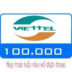 Nạp tiền Viettel 100k trả sau