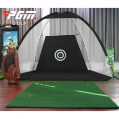 Bộ thảm tập+ lưới lều tập golf LL02 (MÀU ĐEN)