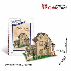 Mô hình lắp ráp 3D Cubic Fun Nhà vườn ở quê (Pháp) – W3118h