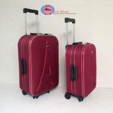 Vali vải du lịch màu đỏ 20inch( bảo hành 12 tháng)