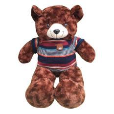 Gấu bông cao cấp Teddy áo thun màu nâu Size 50cm hàng VNXK