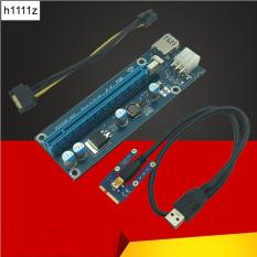 Mini PCI-E1x To16x Extender Riser card Adapter SATA 6Pin – USB 3.0 60cm