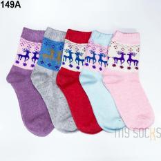 Phụ kiện giày vớ nữ len cao cổ (5 đôi) Vớ Store – A149