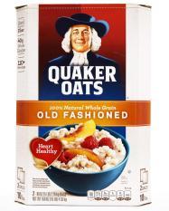 Yến mạch Mỹ Quaker Oats nguyên hạt cán dẹp Old Fashioned thùng 4.52kg