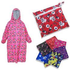 Áo mưa vải dù Bit kín 2 bên cho trẻ em – (Size 9-10-11 Tuổi ) Loại dày siêu chắc