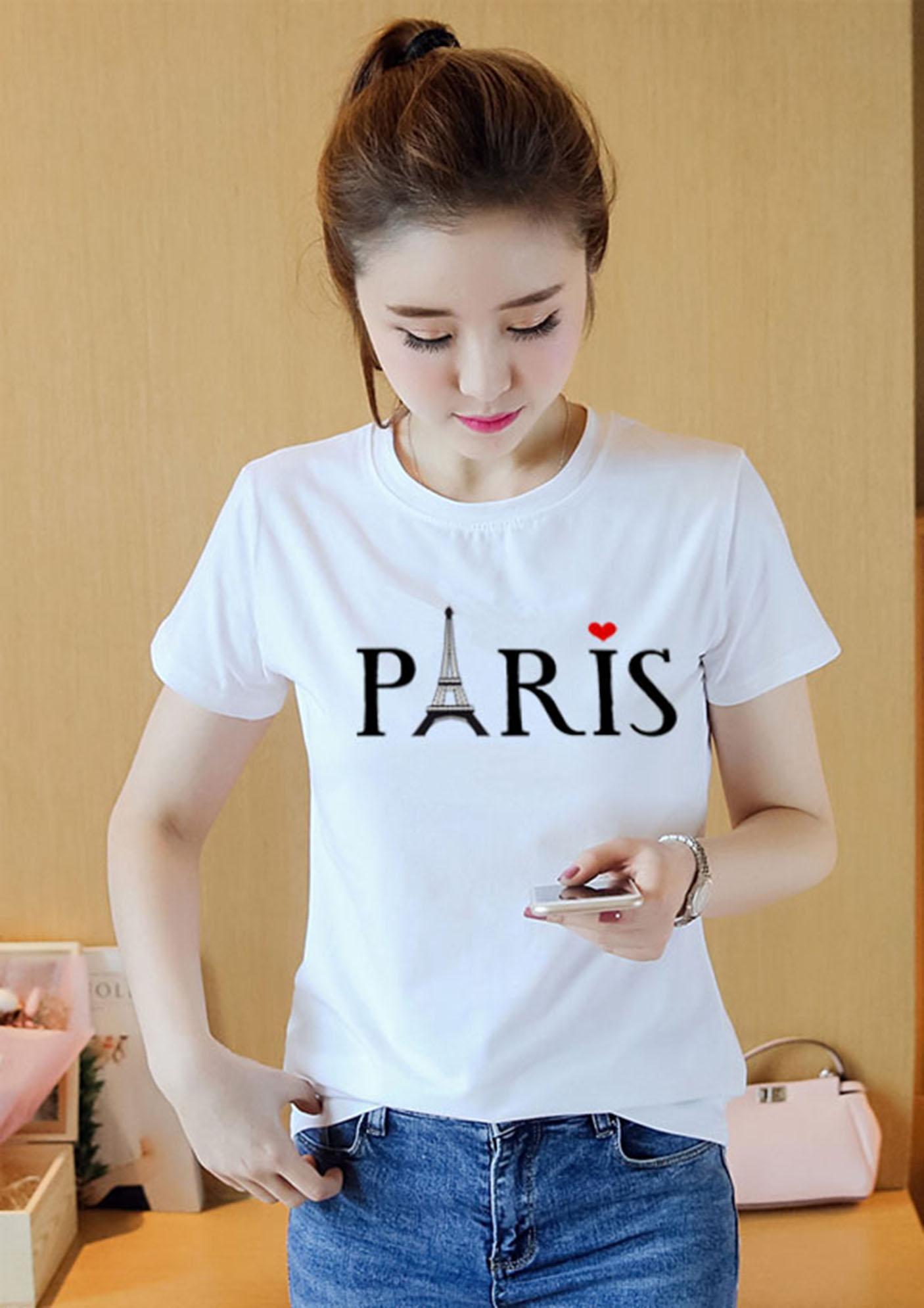 AO THUN NU PARIS ATNK325 Form Rộng HAN QUOC AoThun102
