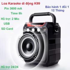 Loa Bluetooth Cong Suat Cao, Loa K99 Hozito Cao Cấp NA100, Loa Bluetooth Vali Keo – [Đánh giá] Top 5 loa kéo di động karaoke tốt chất 2018 + Kèm Remote