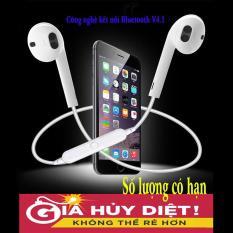 [GIÁ HỦY DIỆT] Tai nghe Bluetooth Sports Headset S6 siêu Bass không dây (Trắng) + Tặng kèm dây sạc