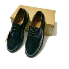 giày cổ thấp đế cao da bò nam(ĐEN)-tặng xi đánh giày