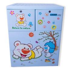 Tủ nhựa đựng quần áo trẻ em Lucky Việt Nhật (3 tầng – 4 ngăn)