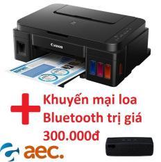Máy in phun màu Canon G2010 đi kèm 4 bình mực Hàn Quốc (in/scan/copy) + tặng kèm khuyến mai loa Bluetooth trị giá 300.000đ