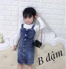 Váy Jean cho bé gái chất co giãn đẹp