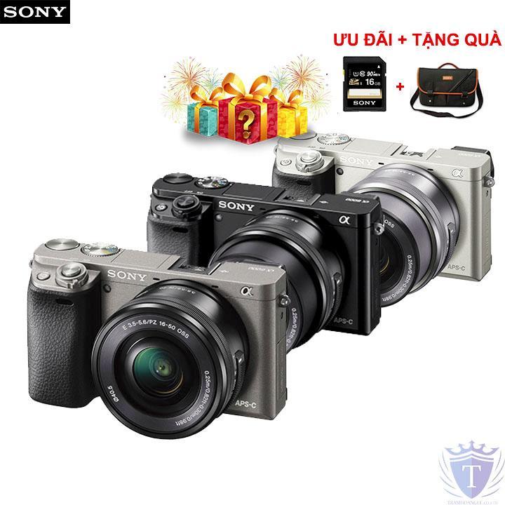 Máy ảnh Sony Alpha A6000 Kit 16-50mm F3.5-5.6 Chính hãng + Túi Alpha + Thẻ 16Gb