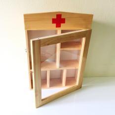 Tủ thuốc y tế gia đình – tủ thuốc gỗ VẬT DỤNG Y TẾ QUAN TRỌNG – tủ thuốc treo tường trang trí nhà Bạn
