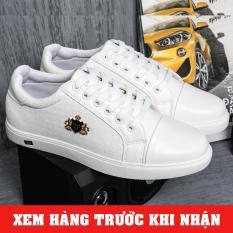 Giày sneaker nam trắng – Giày thể thao nam thời trang màu trắng ( Giá Hủy Diệt)