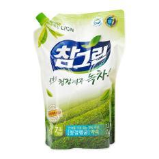 Nước rửa rau quả và chén bát CJ Lion Real Green tinh chất trà xanh túi 1,2kg