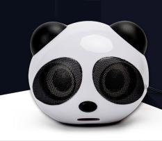 Loa Nghe Nhạc Mini Dùng Cho Laptop, Điện Thoại, Máy Nghe Nhạc Mp3 Sử Sụng Jack 3.5 Và Sạc USB Gấu Trúc Panda