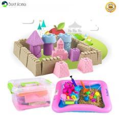 Bộ đồ chơi khuôn tạo hình khối cát động lực vi sinh an toàn