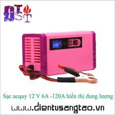 Sạc acquy 12 V 6Ah -120Ah hiển thị dung lượng