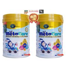 [Mẫu mới] Bộ 2 Sữa Meta Care 3 Nutricare 900g