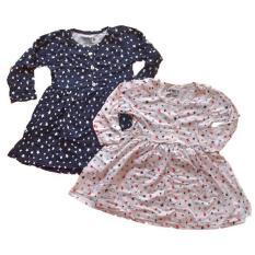 Combo 02 váy cotton dài tay cho bé gái từ 9-22kg